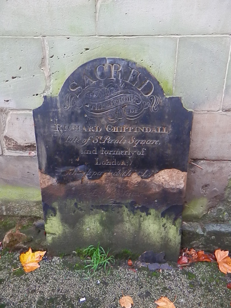 Figure 3. Richard Chippindall's headstone