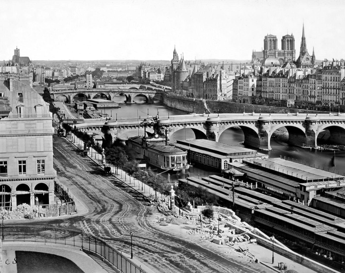 Panorama de Paris pris du Louvre C. Soulier ca1855