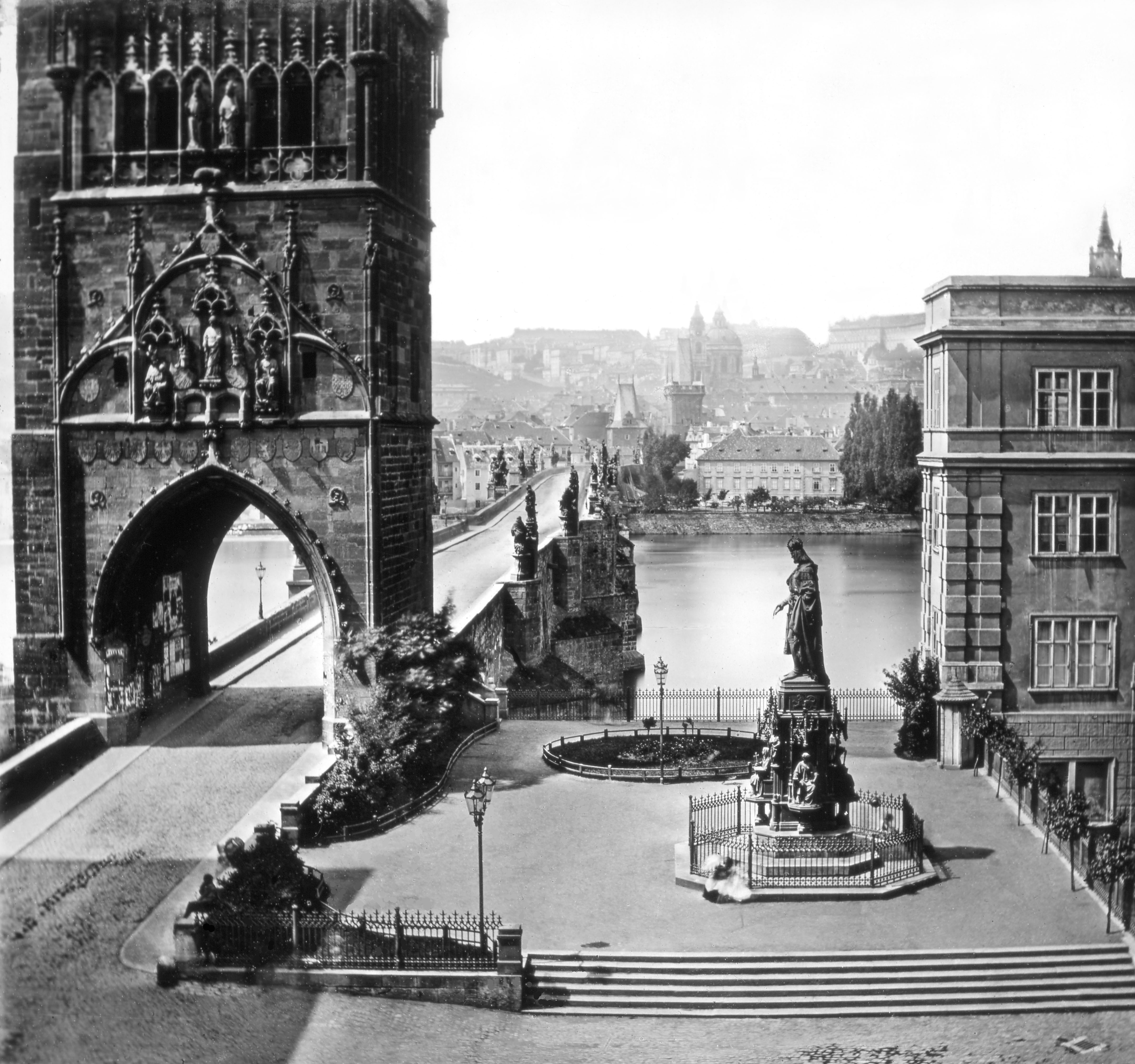 506 Prague 'Vue du Pont de Prague' ca1855