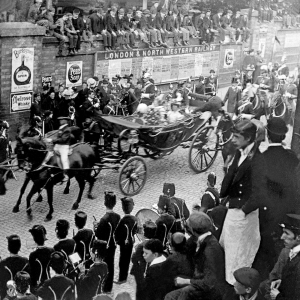 July 7th 1897 Royal Visit. Princess Christian of Schleswig Holstein leaves New Street Station to open General Hospital