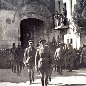 General Allenby entering Jerusalem at the Jaffa Gate Dec 1917