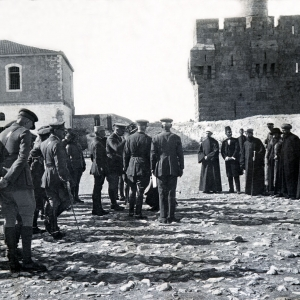 736 General Allenby and Military Mission meet various heads of Churches in Jerusalem