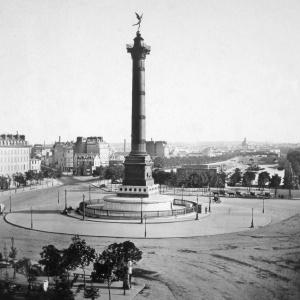 504 Paris 'Colonne de Juillet Place de la Bastille' ca 1855