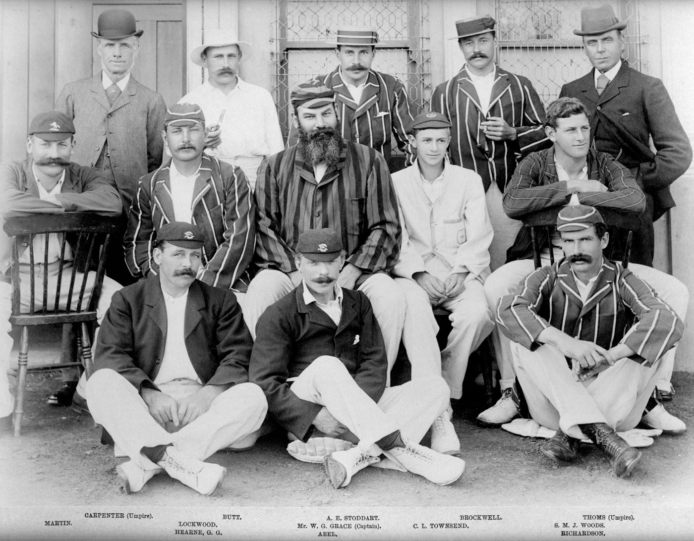 South in North v South 1895 with Grace as Captain