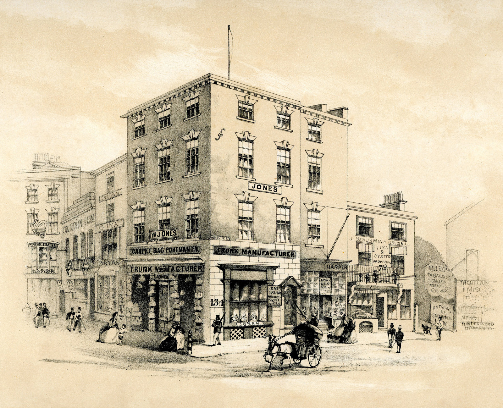 New Street, corner of Worcester Street