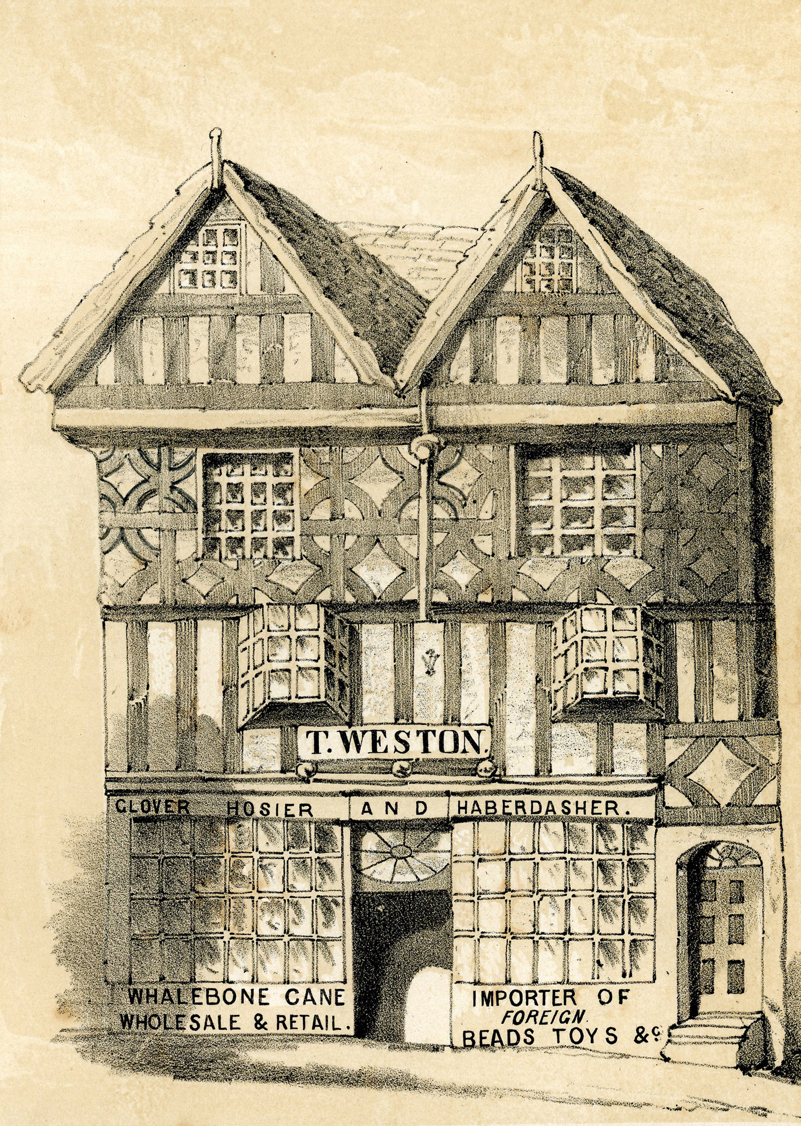 Old House in High Street  1830