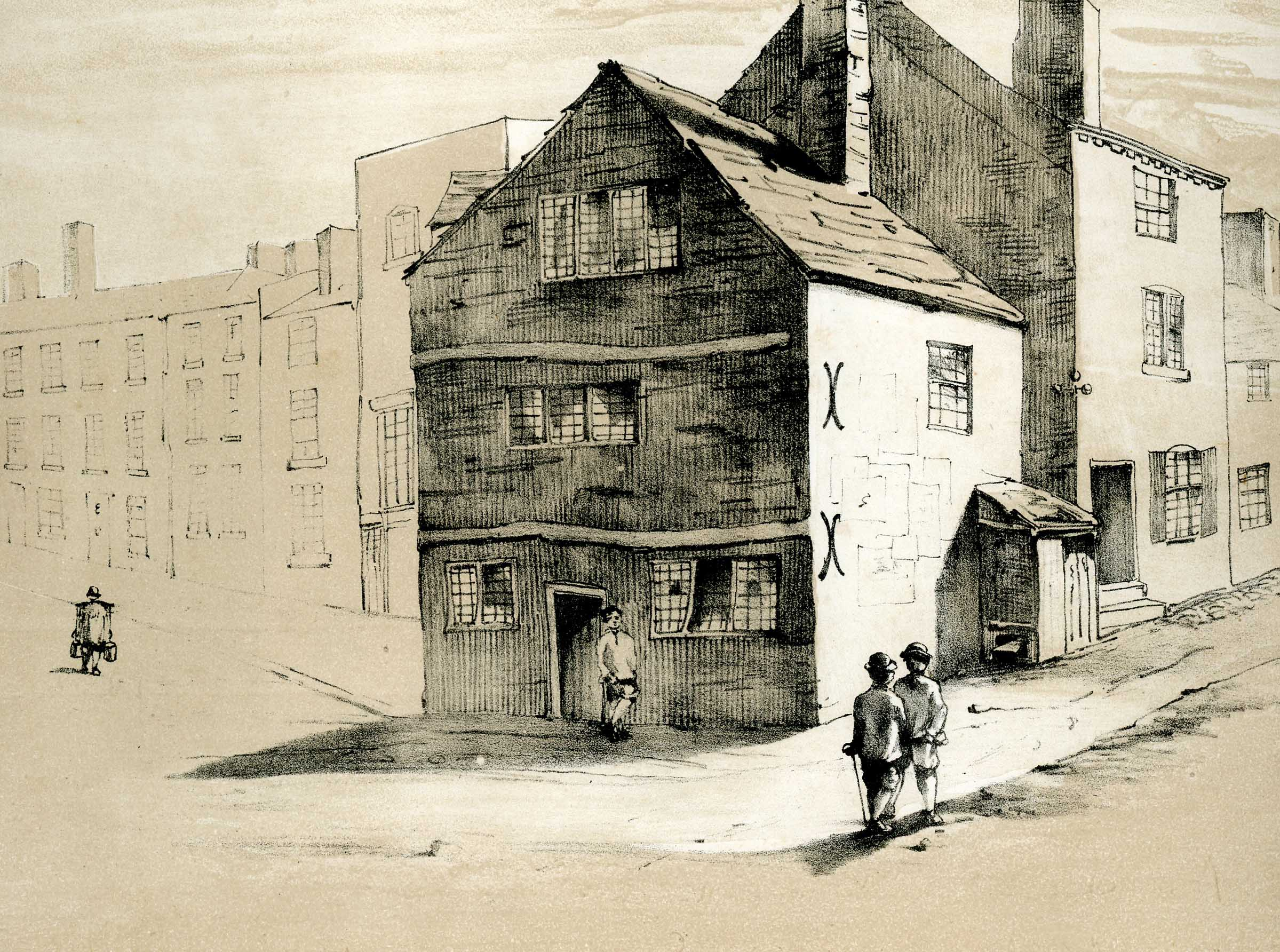 Houses at the bottom of Pinfold St -Navigation Street